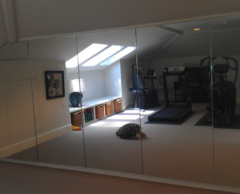 Mirrors in home gym