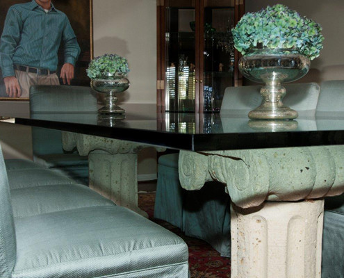 "1"" thick glass table"